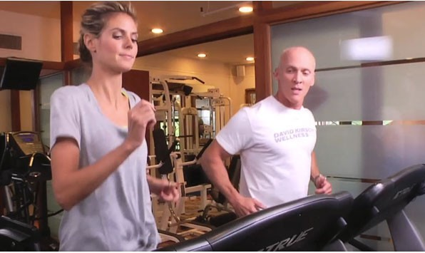 Heidi and David running on the treadmill