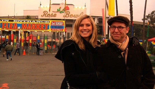Heidi Klum and Michael Ostrow at the Flea Market