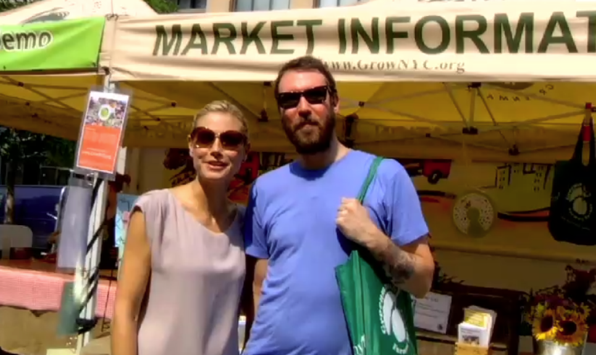 Heidi and Scott Winegard at the Farmers Market in Union Square.
