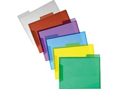 Staples Translucent Poly File Folders