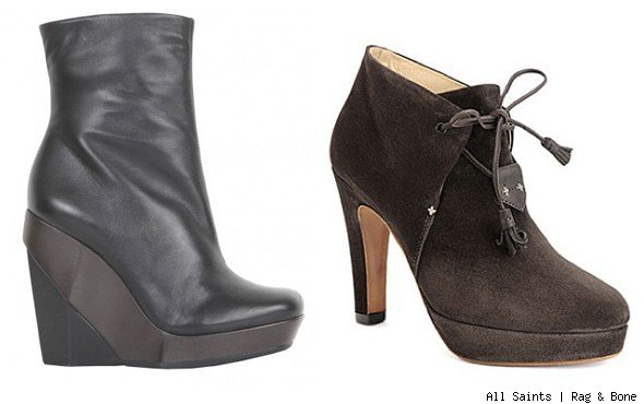 All Saints and Rag & Bone boots