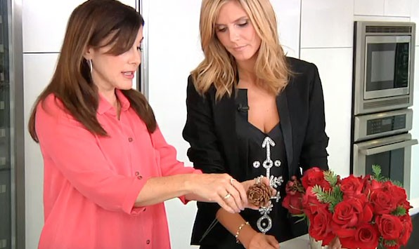Heidi Klum Flower Arrangements