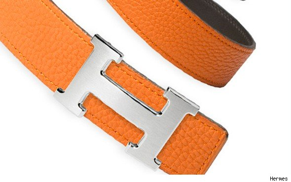 Hermes 32mm Reversible Leather Strap Belt