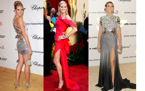 heidi's oscar looks of the past