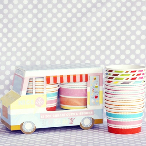 ice cream trucks with cups