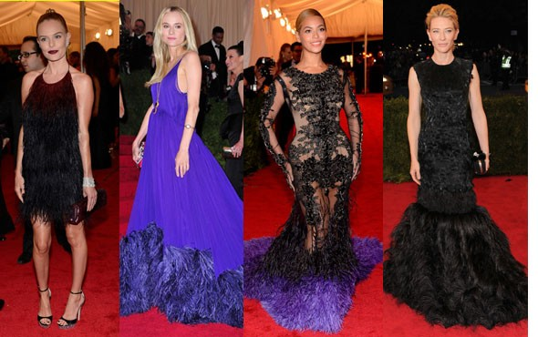 Feathered Dresses
