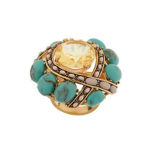 Wildlife by Heidi Klum Cabochon & Crystal Duchess Ring