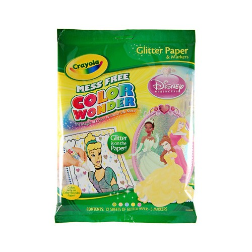 Color Wonder Disney Princess Glitter Paper