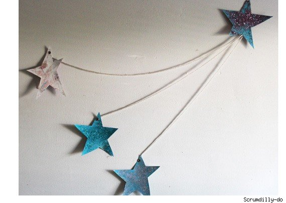 Glitter stars craft project