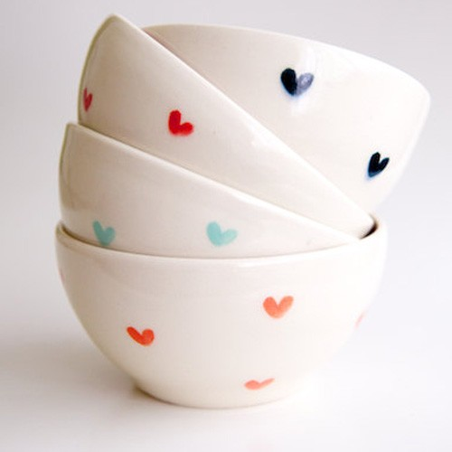red heart bowls