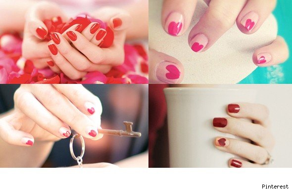 valentine's day manicures