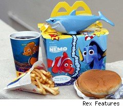 McDonald's Happy Meal promoting Disney's Finding Nemo