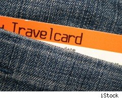 Rail Travelcard in pocket