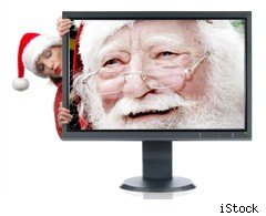 Santa Claus on TV