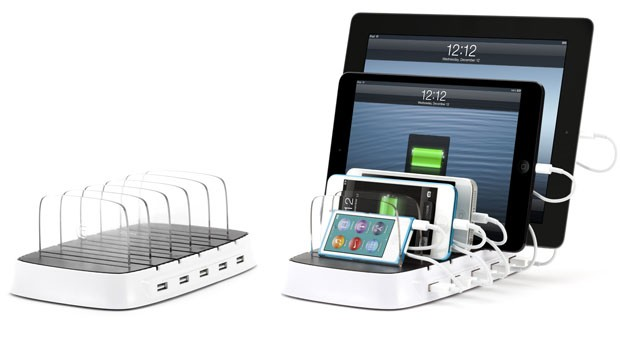 Ipad 5 griffin powerdock 5 engadget - Phone charging furniture the future in your home ...
