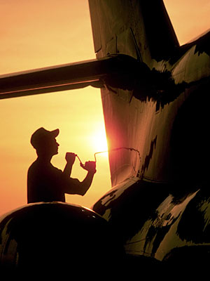 Aircraft Mechanic on Jet Aircraft Mechanic
