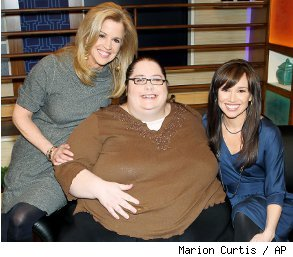 700 Pound Woman http://jobs.aol.com/articles/2011/07/07/700-pound-woman-makes-a-career-out-of-eating-a-lot/