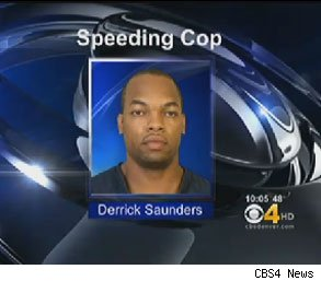 derrick saunders speeding cop fired
