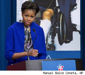 Michelle Obama family leave military