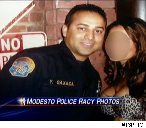 Modesto police officers racy photos on the job