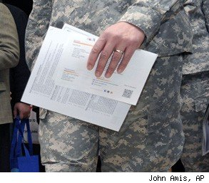 military to civilian job change