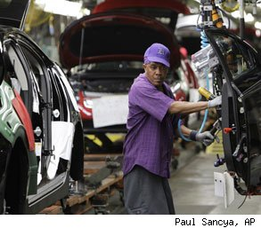 Auto plants manufacturing jobs