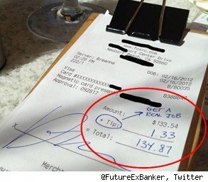 get a real job receipt waitress