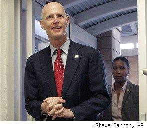 Rick Scott drug testing Florida
