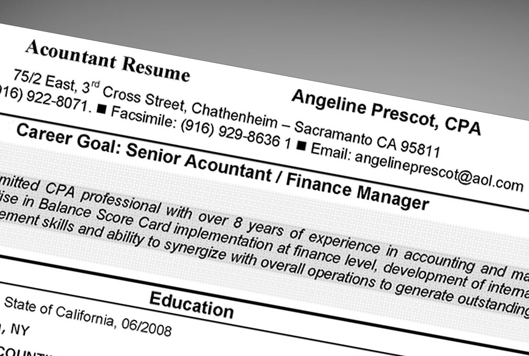 how to spell resume with accents in word