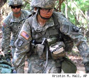female soldiers combat roles Army
