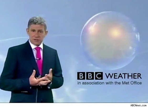 BBC weatherman apologizes rain