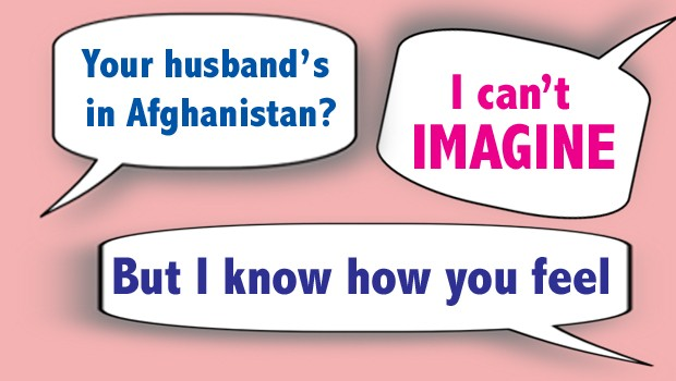 what not to say to military spouses