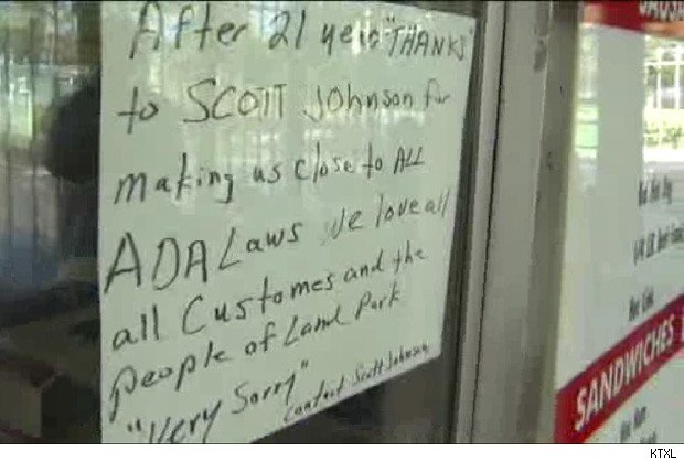 Scott Johnson; Americans with Disabilities Act; ADA