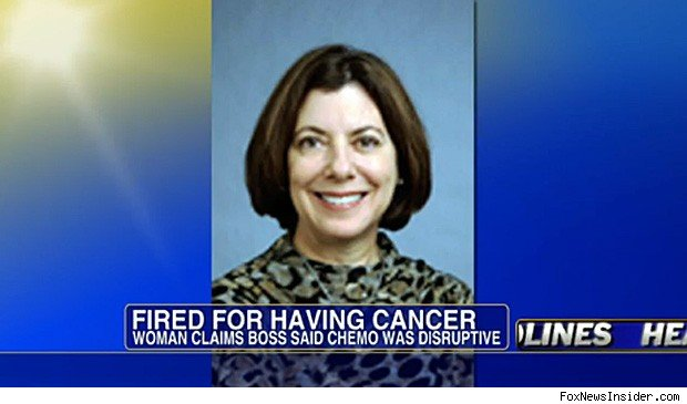 Susan Vinci-Lucero fired breast cancer