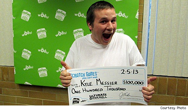 Kyle Messier Idaho lottery winner