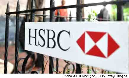 HSBC sign: layoffs at British bank