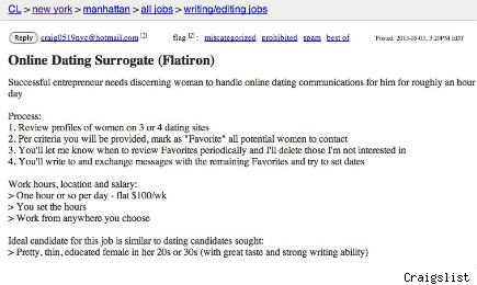 Craigslist dating ad