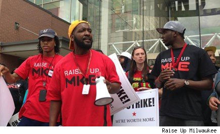 DeAngelo Coleman joins fast-food workers strike