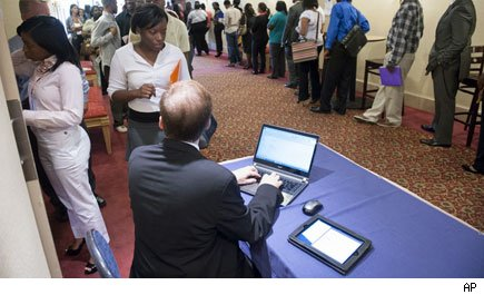 weekly jobless claims workers job fair employment unemployment economy