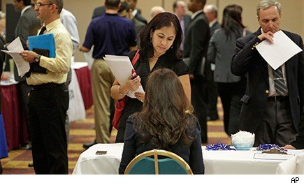 people at a job fair