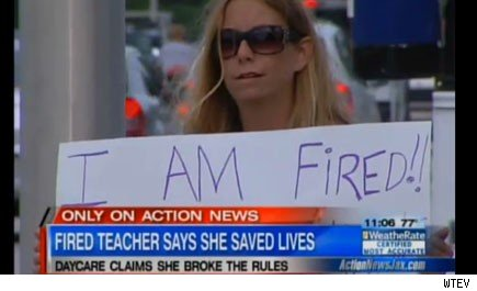 Florida teacher gets fired after putting out a fire at school.
