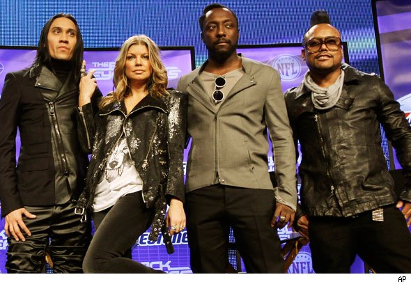 Black Eyed Peas Super Bowl XLV Halftime performers