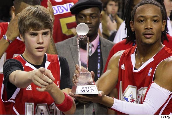 Justin Bieber named MVP of All-Star Celebrity Game