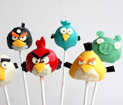 Angry Bird Lollipops
