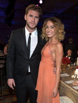Miley Cryrus and Liam Hemsworth engaged