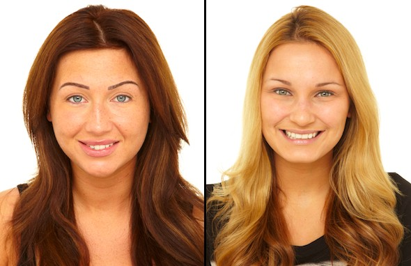 TOWIE's Lauren and Sam go without makeup for photoshoot