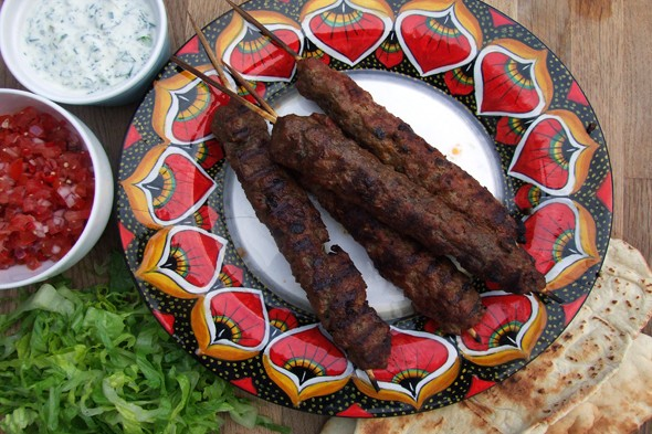 Simple, speedy suppers: BBQ lamb koftas with minty yoghurt