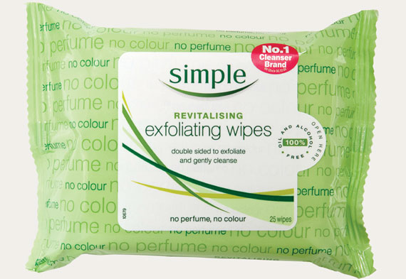 Exfoliating wipes