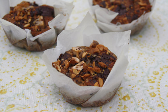 Cake and Eat It: Vegan pear, chocolate and hazelnut muffins