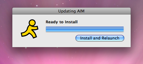 AIM for Mac Update Progress